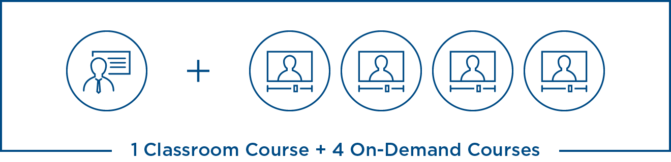 Get 1 Microsoft Classroom Course + 4 Microsoft On-Demand Courses