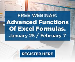 Excel functions webinar