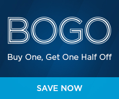 BOGO: Buy One, Get One Half Off